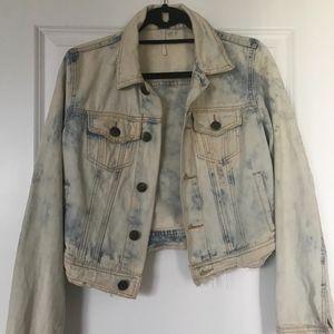 Free People distressed jean jacket